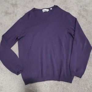 Mens Calvin Klein v neck sweater merino